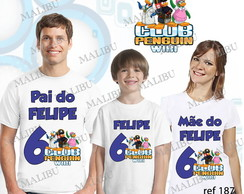 Camiseta Clube do Pinguim Personalizada