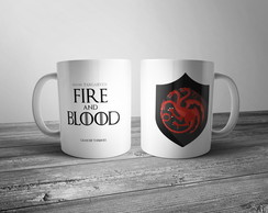 Caneca House Targaryen - Game of Thrones