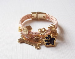 Pulseira Love Dog Rose