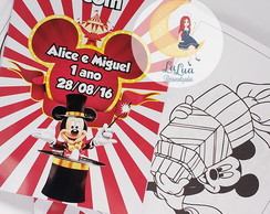 Revista Para Colorir - Circo do Mickey