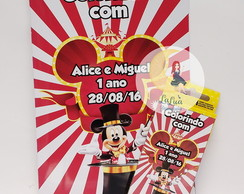 Kit Para Colorir Circo do Mickey