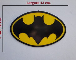 Escudo super herói Batman Decorativo mdf