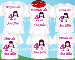 Kit familia camisetas monster high c/6