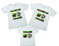 Kit Camisetas aniversario do Minecraft