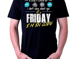CAMISETA MASCULINA - FRIDAY, IN LOVE