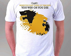 CAMISETA MASCULINA - YOU WIN OR YOU DIE