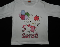 camiseta pintada da gatinha HELLO KITTY
