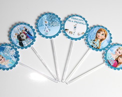 Mini Totens Toppers - Frozen Escalopado