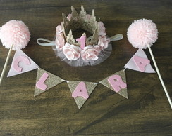 conjunto smash the cake princesa rosa