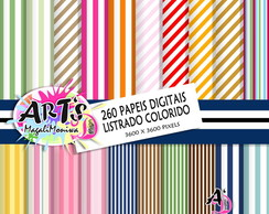 LISTRAS COLORIDAS PAPEL DIGITAL