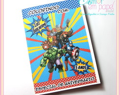 Mini Revistinha de Colorir - Vingadores