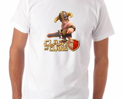 Camiseta Geek Clash of Clans Bárbaro Nível 5