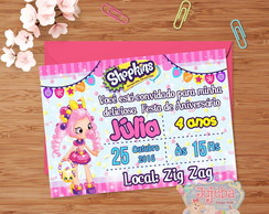Convite Shopkins- Shoppies Bubbleisha