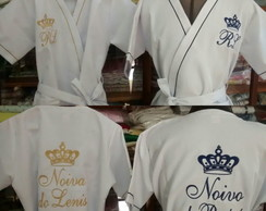 Kit Robe Piquet Noiva Noivo