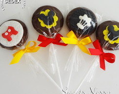 Pirulitos de Chocolate - Mickey Mouse