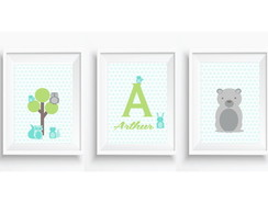 Kit posters Animais Floresta Baby