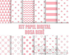 Kit papel digital ROSA BEBE
