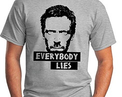 CAMISETA MASCULINA - EVERY BODY LIES
