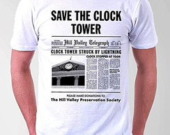 CAMISETA MASCULINA -SAVE THE CLOCK TOWER