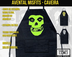 Avental Misfits Caveira Churrasco Bar