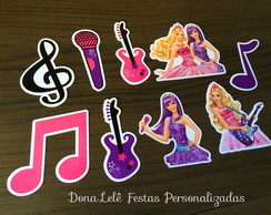 Barbie Pop Star - Apliques