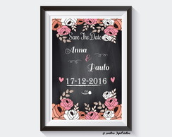 Pôster Save The Date Wedding- Chalkboard