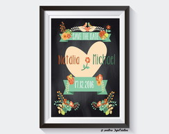 Chalkboard Save The Date A4