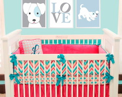 trio de quadros infantil Love Dogs