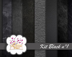 Kit Papel Digital Black n°1