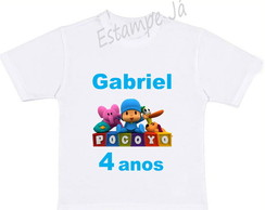 Camiseta Personalizada do Pocoyo Camiseta do Pocoyo