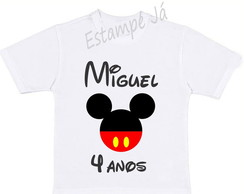 Camiseta Personalizada do Mickey Camiseta do Mickey