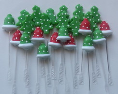 Toppers para Doces Tema Natal em Biscuit