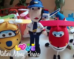 Kit Super Wings e o comandante Jimbo