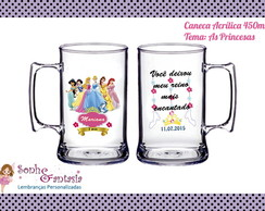 Caneca de Acrílico As Princesas - 400ml