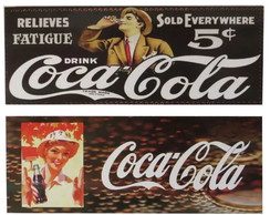 2 Placas Quadro Retro Vintage Coca-cola