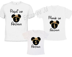 Camisetas do Mickey Safari Camiseta Personalizada do Mickey