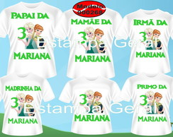 Kit Familia Frozen Fever Novo c/6