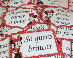 Plaquinhas Divertidas da Minnie