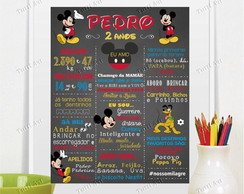 Chalkboard Quadro Mickey Digital