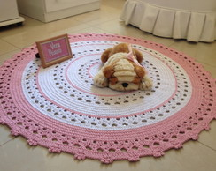 tapete croche rosa elo7. Black Bedroom Furniture Sets. Home Design Ideas