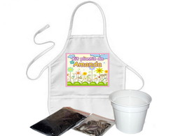 kit jardinagem infantil com avental
