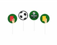 FUTEBOL - Toppers / Tags Personalizados