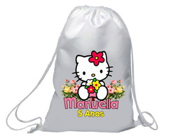 Mochilinha Hello Kitty Florista
