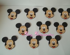 Kit 10 Aplique Rosto Mickey Eva