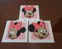 Trio de quadros Minnie