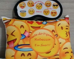 Kit Festa do Pijama Emoji Personalizados