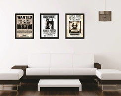 Kit de Posters com Moldura HP Wanted