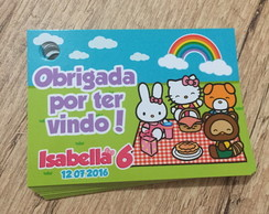 Tag de Agradecimento Hello Kitty