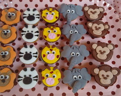 Mini cupcakes decorados Safari