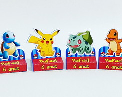 Porta Chocolate duplo Pokemon